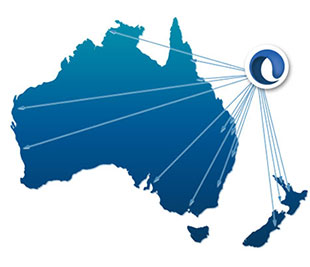 Australia map with Credit One branches